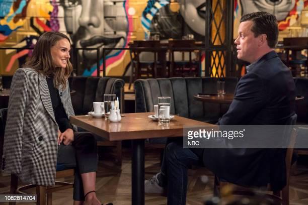 Natalie Portman and Willie Geist on January 13 2019
