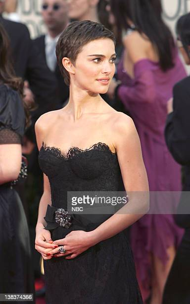 Natalie Portman arrives at The 63rd Annual Golden Globe Awards at the Beverly Hilton Hotel