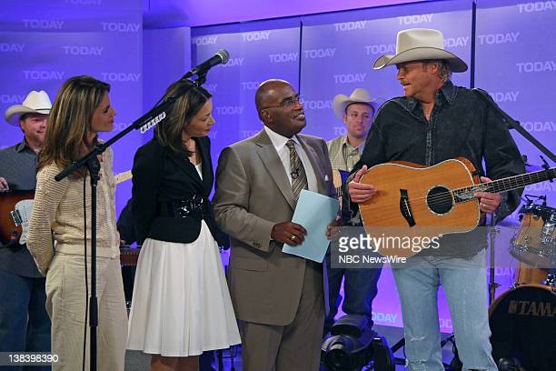 National Correspondent Natalie Morales News Anchor Ann Curry and Weather and Feature Reporter Al Roker speak with country singer Alan Jackson live in...