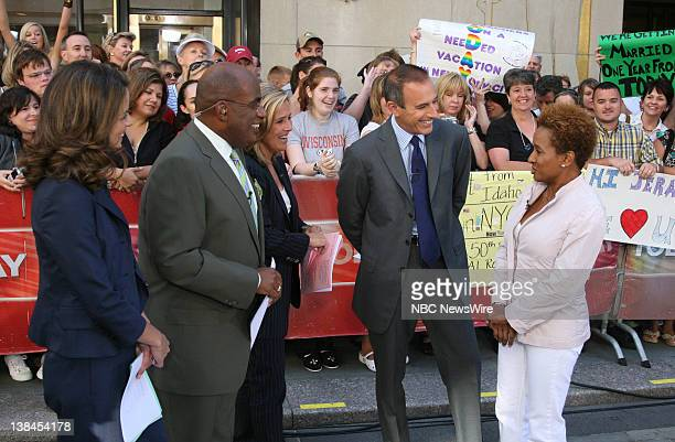 National Correspondent Natalie Morales Weather and Feature Reporter Al Roker CoAnchors Meredith Vieira and Matt Lauer and actress Wanda Sykes talk...