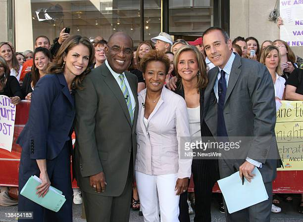 National Correspondent Natalie Morales Weather and Feature Reporter Al Roker actress Wanda Sykes and CoAnchors Meredith Vieira and Matt Lauer talk...
