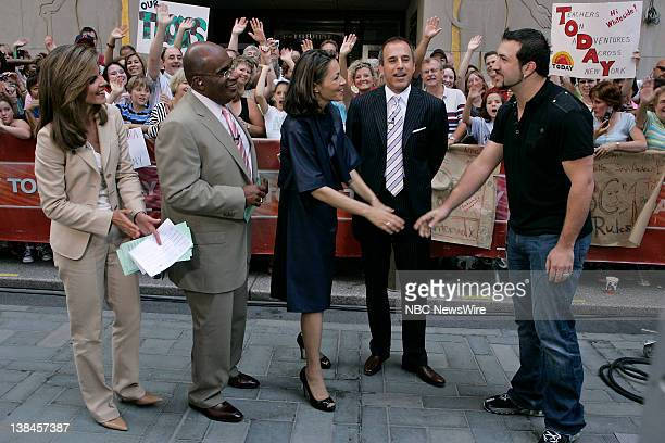 National Correspondent Natalie Morales Weather and Feature Reporter Al Roker News Anchor Ann Curry CoAnchor Matt Lauer and actor Joey Fatone talk...