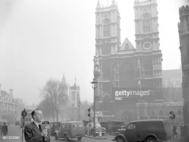 NBC Correspondent George Hicks reports from Westminster Abbey in London England on February 13 1952