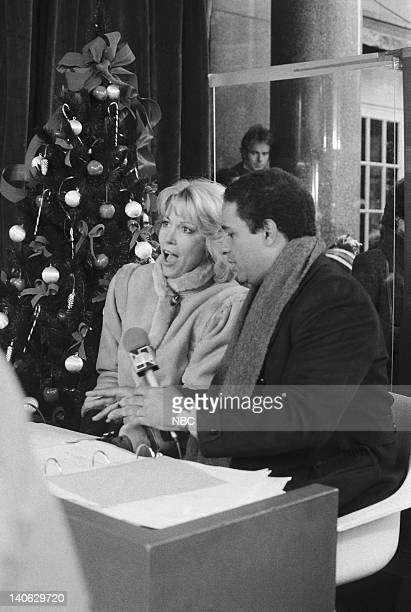 NBC hosts Sarah Purcell and Bryant Gumbel during the 1982 Macy's Thanksgiving Day Parade Photo by NBCU Photo Bank