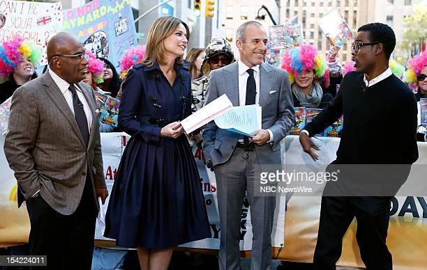 NBC News' Al Roker Savannah Guthrie Matt Lauer actor/comedian Chris Rock appear on NBC News' Today show