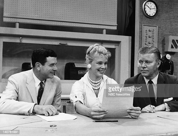 NBC News' Fank Blair 'TODAY Girl' Betsy Palmer Jack Lescoulie in August 1958 Photo by NBC/NBC NewsWire