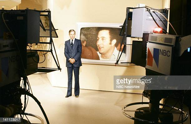 NBC News' Floyd Kalber on the new set in August 1977 Photo by NBC/NBC NewsWire