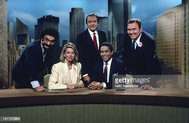 NBC News/ Gene Shalit Jane Pauley John Palmer Bryant Gumbel Willard Scott in 1985 Photo by Alan Singer/NBC/NBC NewsWire