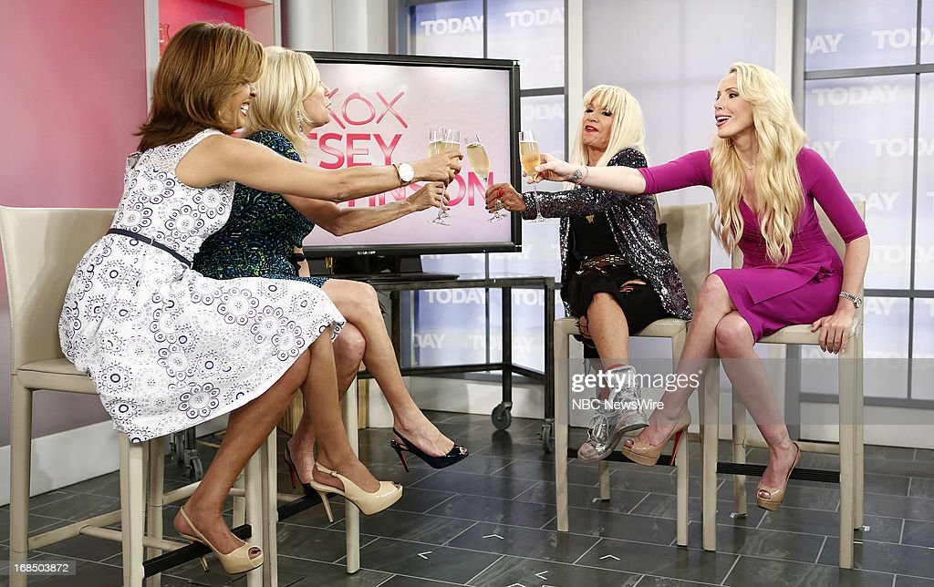 NBC News' Hoda Kotb, Kathie Lee Gifford, fashion designer Betsey Johnson and daughter Lulu Johnson appear on NBC News' 'Today' show on May 10, 2013 --