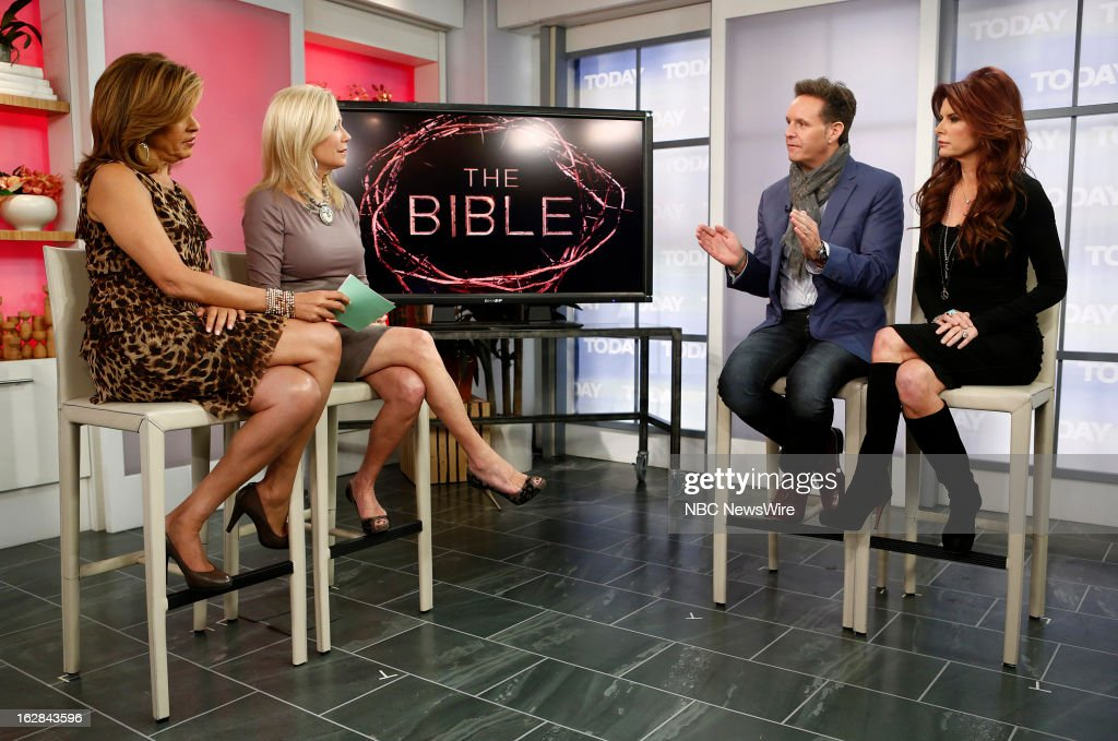 NBC News' Hoda Kotb, Kathie Lee Gifford, producer Mark Burnett and actress Roma Downey appear on NBC News' 'Today' show on February 28, 2013 --