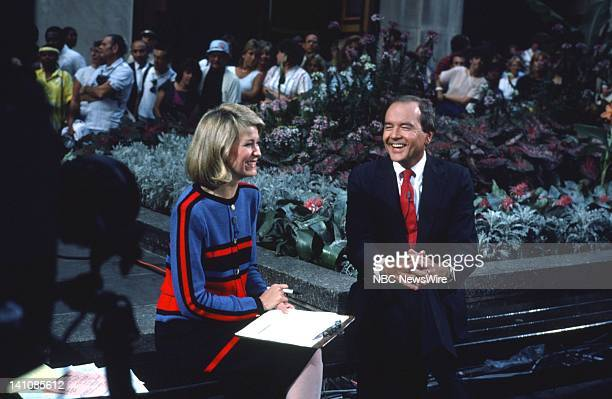 NBC News' Jane Pauley John Palmer in August1985 Photo by Alan Singer/NBC/NBC NewsWire