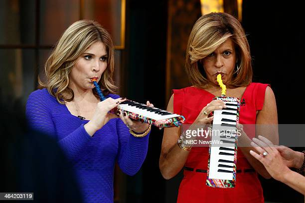 NBC News' Jenna Bush Hager and Hoda Kotb appear on NBC News' 'Today' show on January 21 2014