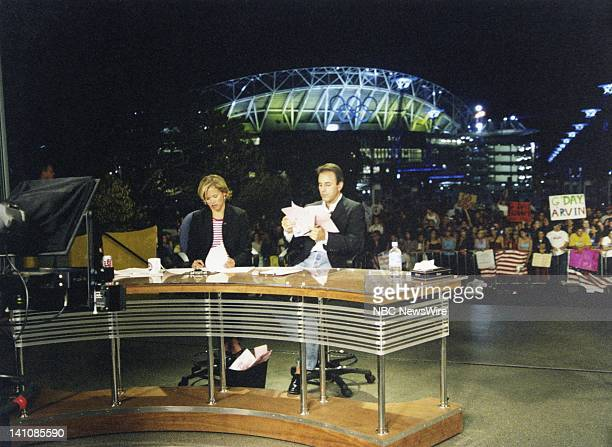 NBC News' Katie Couric Matt Lauer at the 2000 Summer Olympics in Syndey Australia Photo by NBC/NBC NewsWire