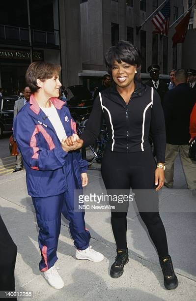 NBC News' Katie Couric TV host Oprah Winfrey on September 18 1996 Photo by Andrea Renault/NBC/NBC NewsWire