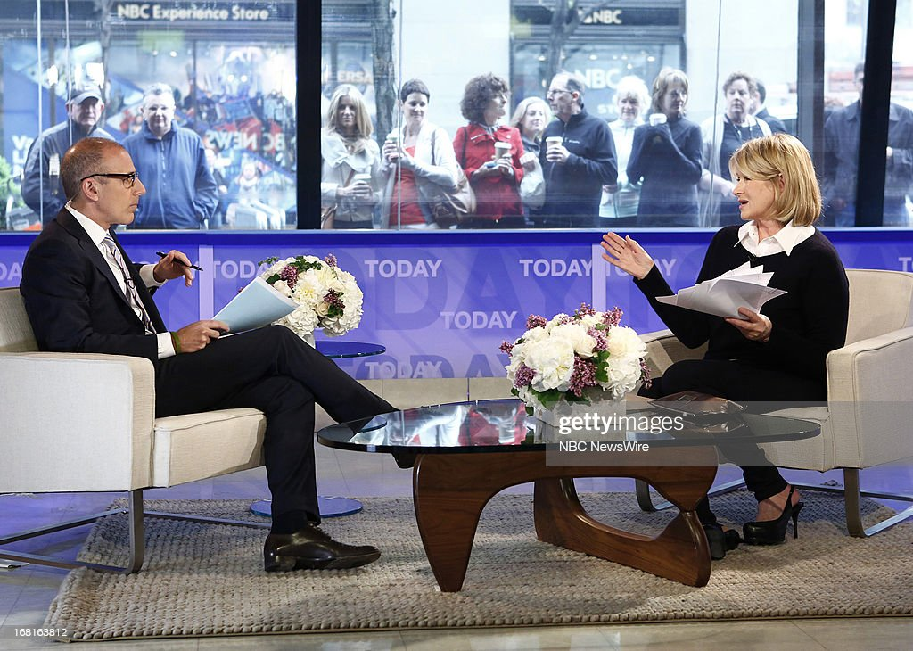 NBC News' Matt Lauer and Martha Stewart appear on NBC News' 'Today' show on May 6, 2013 --