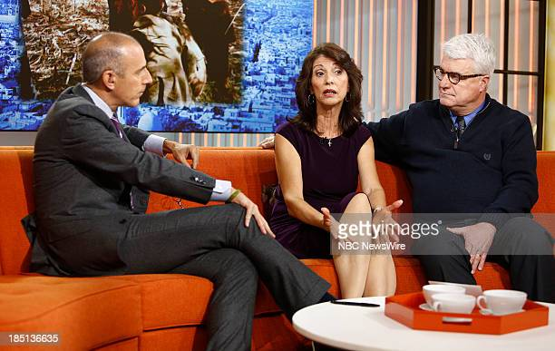 NBC News' Matt Lauer parents of kidnapped journalist James Foley Diane Foley and John Foley appear on NBC News' Today show on October 17 2013