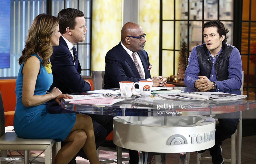 NBC News' Natalie Morales, Willie Geist, Al Roker and actor Orlando Bloom appear on NBC News' 'Today' show on December 13, 2013 --