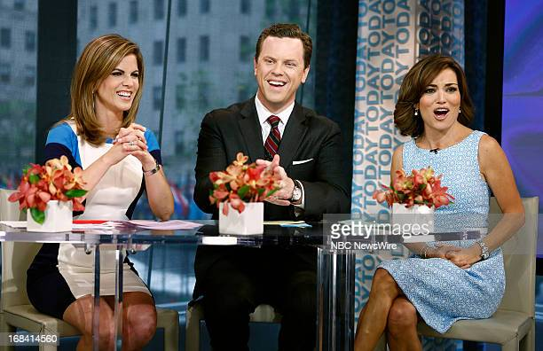 NBC News' Natalie Morales Willie Geist and Access Hollywood's Kit Hoover appear on NBC News' Today show on May 9 2013