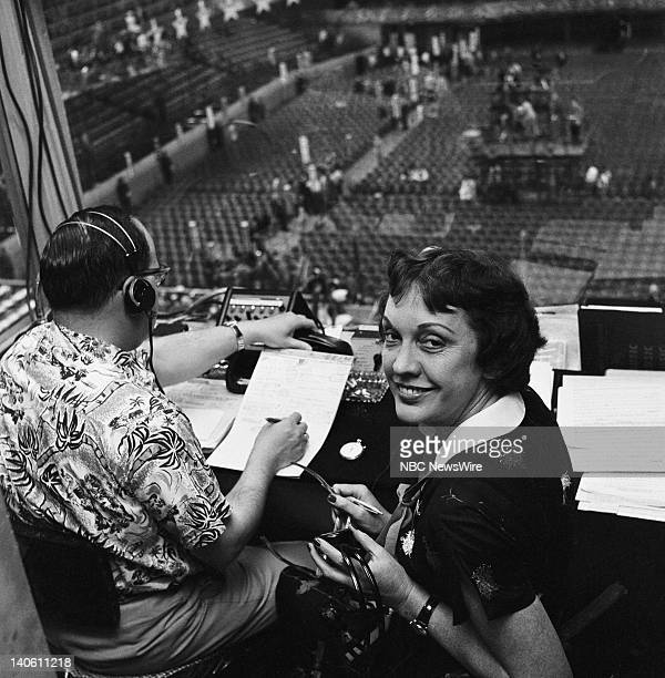 NBC News' Pauline Frederick at the 1956 Democratic National Convention held at the International Amphitheatre in Chicago Il from August 1317 1956...