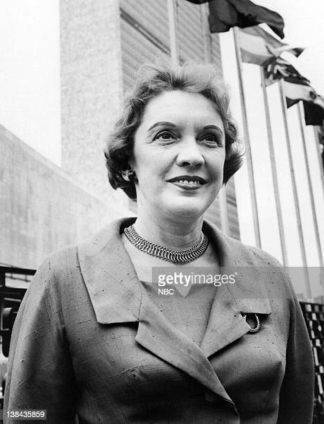 NBC News' Pauline Frederick at the United Nations in May 1961