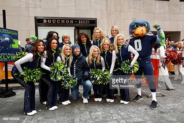 NBC News' Today show celebrates the Super Bowl with a pep rally on the plaza