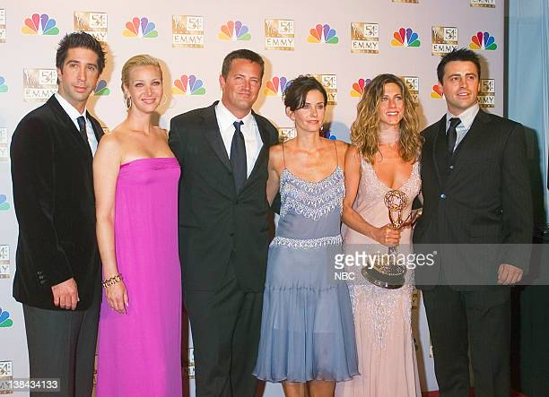 NBC's 'Friends' received two emmys Oustanding Comedy Series and Oustanding Lead Actress in a Comedy Series David Schwimmer Lisa Kudrow Matthew Perry...
