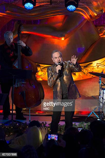 Neil Diamond during the 2016 Christmas in Rockefeller Center