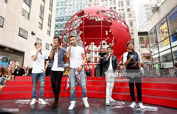 Niall Horan Harry Styles Liam Payne Zayn Malick and Louis Tomlinson of One Direction appear on NBC News' 'Today' show
