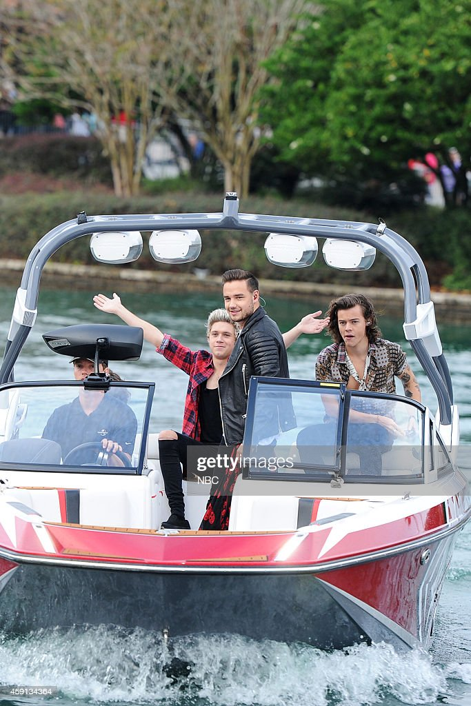 Niall Horan, Liam Payne, and Harry Styles of the band One Direction appear on the 'Today' show from Universal Orlando Resort on Monday, November 17, 2014 --