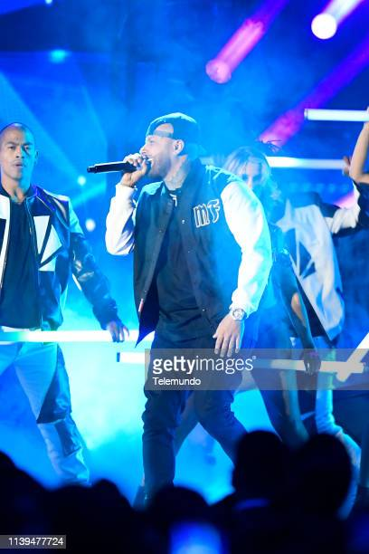 Pictured: Nicky Jam performs at the Mandalay Bay Resort and Casino in Las Vegas, NV on April 25, 2019 --