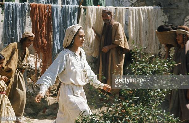 Pictured: Olivia Hussey as Mary, the mother of Jesus -- Photo by: NBC/NBCU Photo Bank