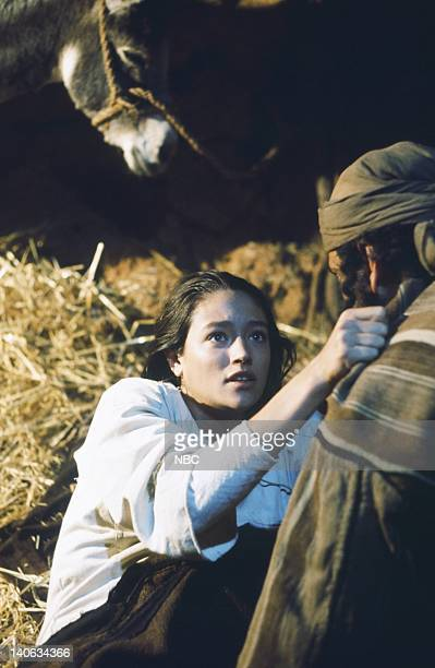 Olivia Hussey as Mary the mother of Jesus Yorgo Voyagis as Joseph Photo by NBC/NBCU Photo Bank