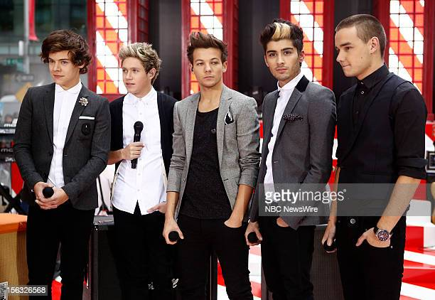 One Direction Harry Styles Niall Horan Louis Tomlinson Zayn Malik Liam Payne appears on NBC News' Today show
