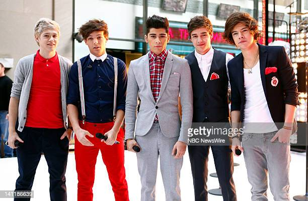 One Direction Niall Horan Louis Tomlinson Zayn Malik Liam Payne and Harry Styles appear on NBC News' 'Today' show