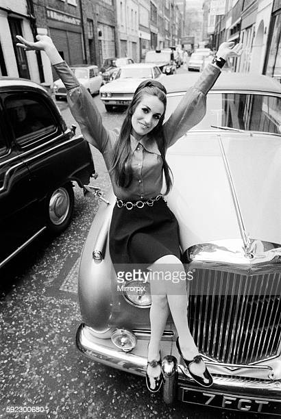 Pictured outside the Revolution Club in the West End where she rehearsed with the group Lesley is making her showbiz comback when she sings with the...