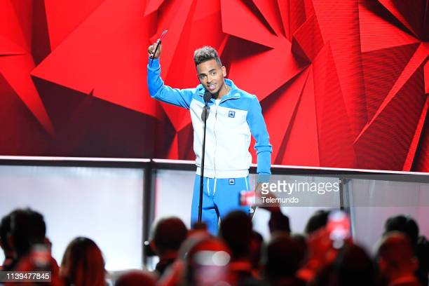 Ozuna winner of the Artist of the Year award at the Mandalay Bay Resort and Casino in Las Vegas NV on April 25 2019