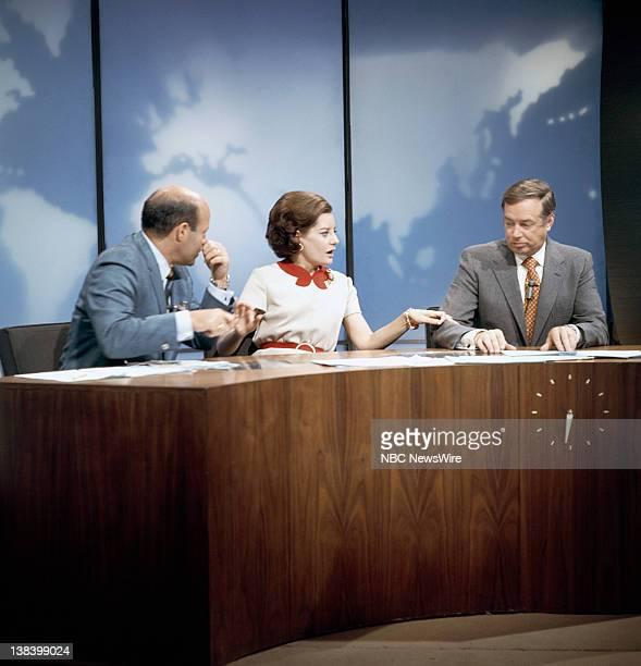 Pictured: Panelist Joe Garagiola, co-anchor Barbara Walters, co-anchor Hugh Downs