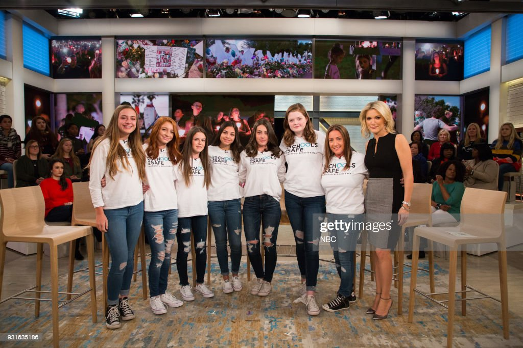 Parkland Shooting Survivors and Megyn Kelly on Tuesday, March 13, 2018 --