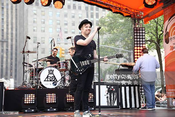 Patrick Stump of Fall Out Boy performs on NBC News' 'Today' show on Friday June 12 2015