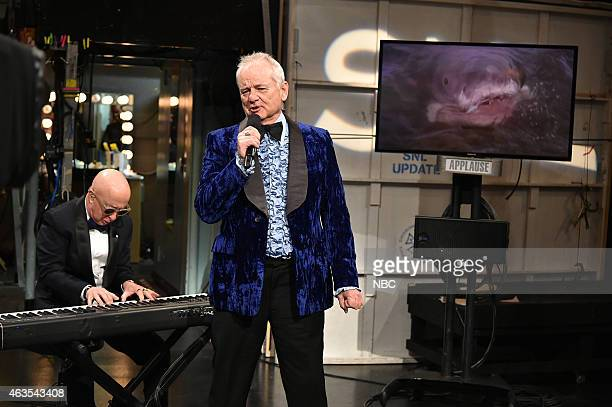 Paul Shaffer Bill Murray during the Marty and Beyonce skit on February 15 2015