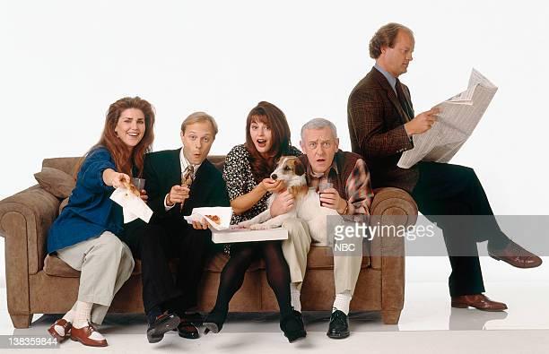 Peri Gilpin as Roz Doyle David Hyde Pierce as Dr Niles Crane Jane Leeves as Daphne Moon John Mahoney as Martin Crane Moose as Eddie Kelsey Grammer as...
