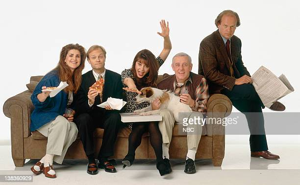 Peri Gilpin as Roz Doyle David Hyde Pierce as Dr Niles Crane Jane Leeves as Daphne Moon Moose as Eddie John Mahoney as Martin Crane Kelsey Grammer as...