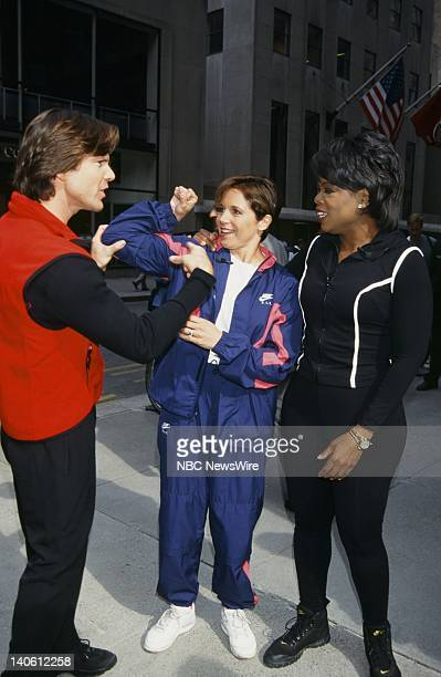 Personal trainer Bob Greene NBC News' Katie Couric TV host Oprah Winfrey on September 18 1996 Photo by Andrea Renault/NBC/NBC NewsWire