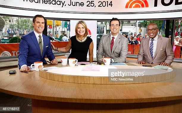 Peter Alexander Savannah Guthrie Carson Daly and Al Roker appear on NBC News' Today show