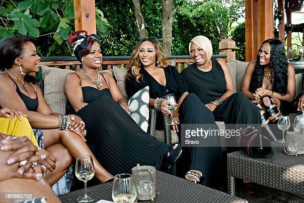 Pictured: Phaedra Parks, Kandi Burruss, Cynthia Bailey, NeNe Leakes, Marlo Hampton --