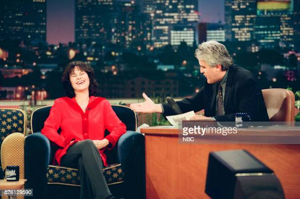 Philanthropist Mavis Leno during an interview with host and husband Jay Leno on March 23 1999