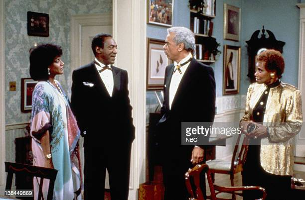 Pictured: Phylicia Rashad as Clair Hanks Huxtable, Bill Cosby as Dr. Heathcliff 'Cliff' Huxtable, Earle Hyman as Russell Huxtable, Clarice Taylor as...