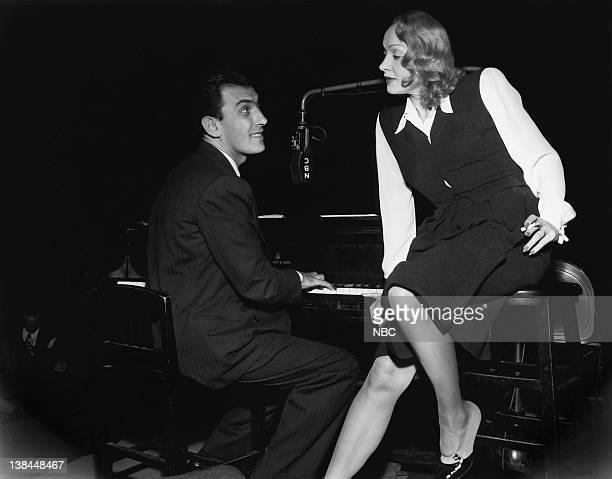 Pianist and bandleader Eddy Duchin actress Marlene Dietrich on December 10 1946