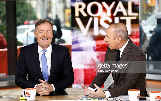 """Piers Morgan and Matt Lauer appear on NBC News' """"Today"""" show --"""