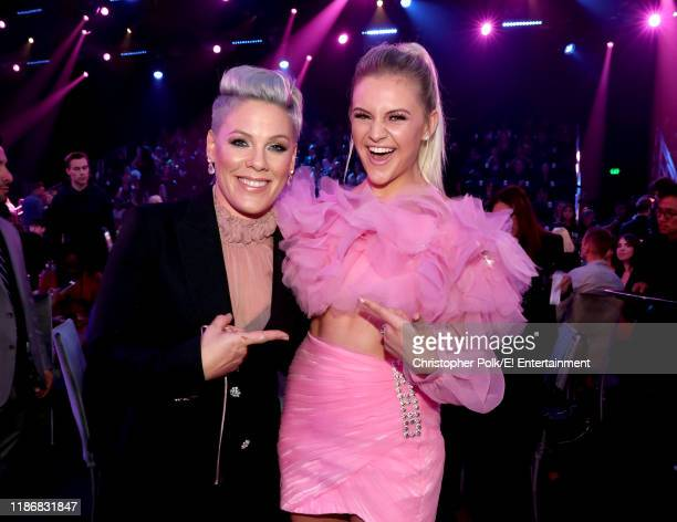 Pink and Kelsea Ballerini during the 2019 E People's Choice Awards held at the Barker Hangar on November 10 2019 NUP_188993